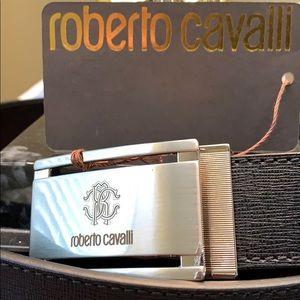 New Roberto Cavalli Classic Black Belt Italy made!